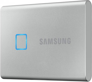 Samsung Portable SSD T7 TOUCH 500GB USB 3.2 Type-C (MU-PC500S/WW) External Silver