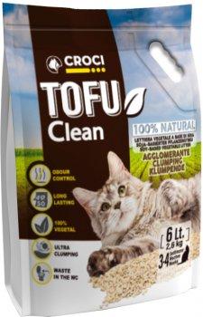 Наполнитель для кошачьего туалета Croci Тофу Clean 6 л (8023222138117)