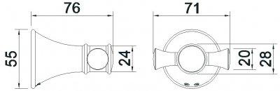 Крючок двойной IMPRESE Podzima Ledove ZMK01170121