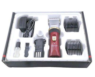 Машинка для стрижки Kronos Gemei GM 550 червоний