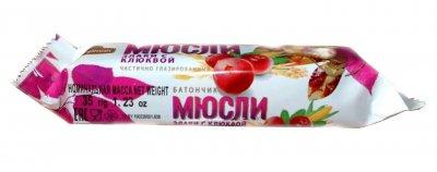 Батончик-мюсли Спартак Злаки с клюквой 35 г