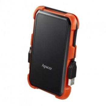 """Жорстку зовнішній диск USB Apacer 3.1 Gen1 AC630 1TB 2,5"""" Чорно-помаранчевий (AP1TBAC630T-1)"""