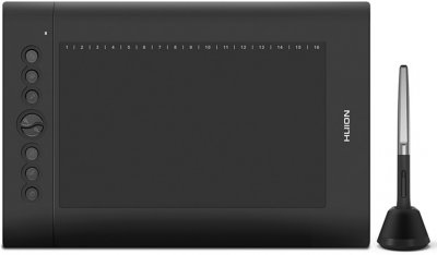 Графічний планшет Huion H610Pro V2 з рукавицею для малювання