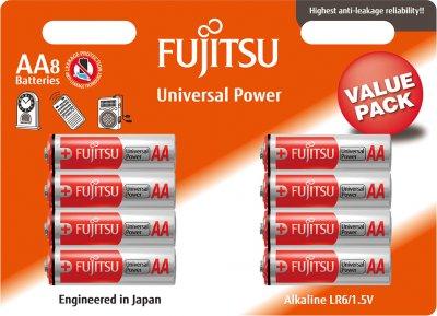 Батарейки Fujitsu Alkaline Universal Power AA (LR6) 8 шт (4976680949907)