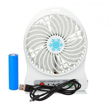 Переносний міні вентилятор UTM (Білий) Портативний. Ручний.
