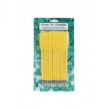 Стрелы для пист.арбалета Man Kung MK-PL-Y, пластик,12 шт/уп, ц:жёлтый