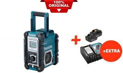 Акумуляторний радіоприймач Makita DMR108+2 акк.18V 5 Ah+швидкозарядний ЗУ (DMR108RT2)