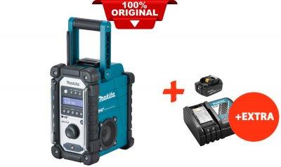 Акумуляторний радіоприймач Makita DMR110+акк.18V 5 Ah+швидкозарядний ЗУ(DMR110RT)