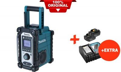 Аккумуляторный радиоприемник Makita DMR102+2 акк.18V 5 Ah+быстрозарядное ЗУ (DMR102RT2)