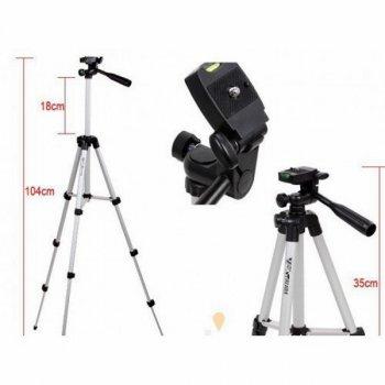 Трипод Штатив Weifeng WT-3110A для телефона, GoPro, камеры, фотоаппарата (500940)