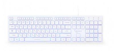Клавіатура дротова Gembird KB-UML3-01-W-RU USB (KB-UML3-01-W-RU)