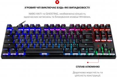 Клавиатура проводная MOTOSPEED K82 RGB USB ENG, UKR, RUS (mtk82mr)