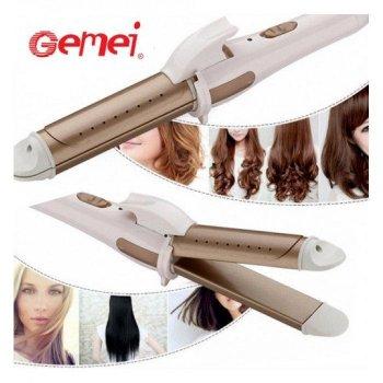 Плойка Утюжок для волос Gemei GM-2961 2 в 1