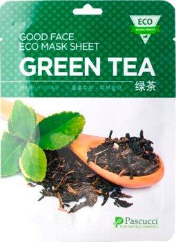 Тканевая маска для лица Amicell Pascucci с экстрактом Зеленого чая 23 мл (8809142563266)