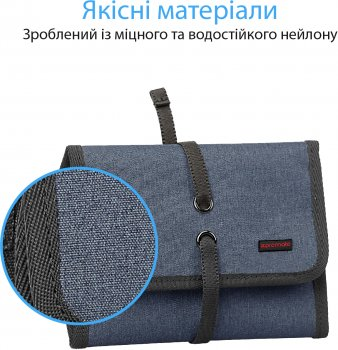 Чохол-органайзер для УМБ Promate TravelPack-S Blue (travelpack-s.blue)