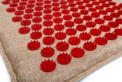 Масажний килимок (аплікатор Кузнєцова) Lounge Medium 68*42 см Червоний