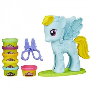 Игровой набор пластилин для лепки «Стильный салон Пони Рэйнбоу Дэш» Play-Doh (SM8001/ MK0531)