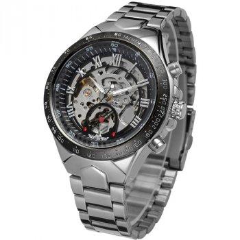 Чоловічий класичний механічний годинник Winner Action Silver 1535