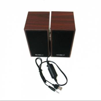 Колонки D-09 для пк та ноутбука, з дерева та пластику (AVE 1078049371)