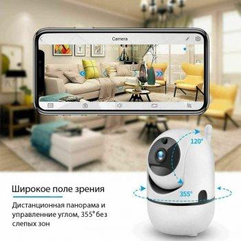 Беспроводная 1080P WiFi радионяня/видеоняня YCC365 камера видеонаблюдения с датчиком движения, ночным видением microSD Белая (355246689)