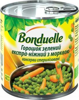 Горошек зеленый Bonduelle с морковью экстра-нежный 400 г (3083680003766)