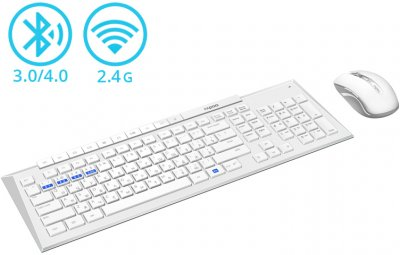 Комплект бездротовий Rapoo 8200M White