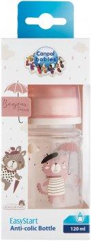Бутылка антиколиковая Canpol Babies Bonjour Paris с широким отверстием 120 мл Розовая (35/231_pin)