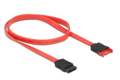 Кабель накопичувача-подовж. Delock SATA 7p M/F 0.5m extender 6Gbps AWG26 червоний(70.08.3954)