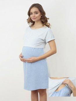 Ночная рубашка Roksana 1168 Светло-голубая