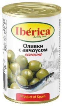 Оливки Iberica фаршированные анчоусами 280 г (8436024298413)