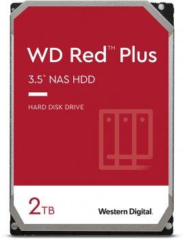 Жорсткий диск Western Digital Red Plus 2TB 5400rpm 128МB WD20EFZX 3.5 SATA III
