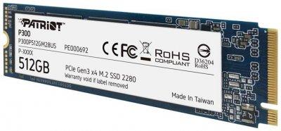 Patriot P300 512GB M.2 2280 NVMe PCIe 3.0 x4 TLC (P300P512GM28US)