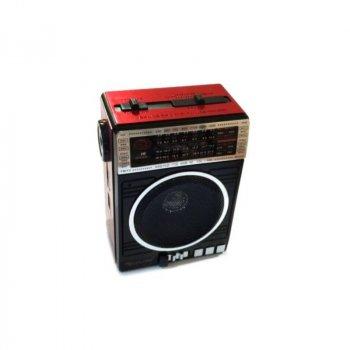 Радиоприемник Golon RX-078 FM AM USB и SD слот фонарик Черный/Красный (3712)