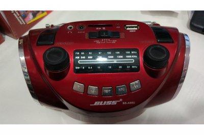 Портативний радіоприймач BS-A 68U Червоний (3730)