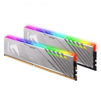 Модуль пам'яті для комп'ютера DDR4 16GB (2x8GB) 3200 MHz RGB Fusion GIGABYTE (GP-AR32C16S8K2HU416RD)