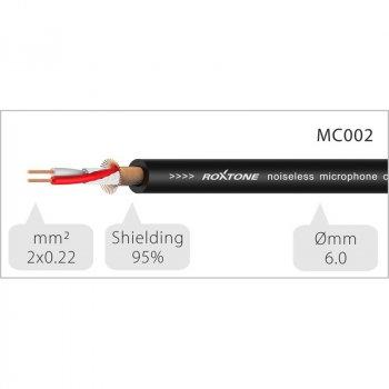 Мікрофонний кабель Roxtone DMXX200L20, XLR - XLR, 2x0.22, 20 м