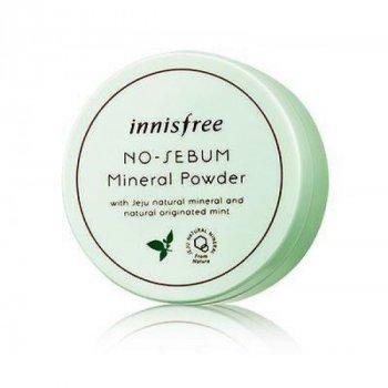 Пудра Innisfree No-Sebum Mineral Powder Mint for Oil минеральная матирующая 5 г
