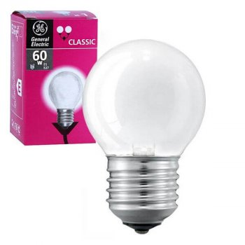 Лампа розжарювання шар 60D1/F/E27 240V матова GE Угорщина