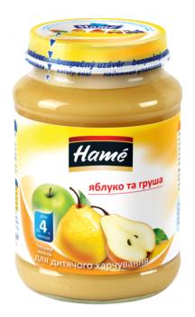 Фруктове пюре Hame яблуко і груша 190 г (23600141760101)