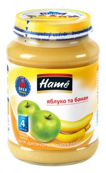Фруктове пюре Hame яблуко і банан 190 г (23600301760101)