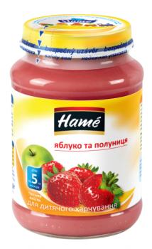 Фруктове пюре Hame яблуко і полуниця 190 г (23600001760101)