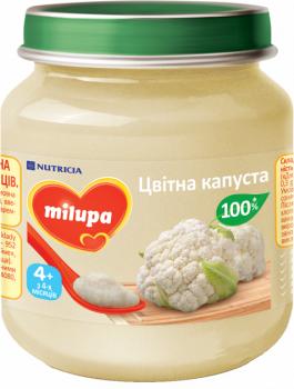 Овочеве пюре Milupa Цвітна капуста 125 г (0246)