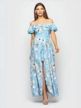 Плаття Santali 4118-1 Блакитне
