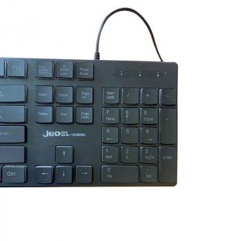 Проводная игровая USB клавиатура Jedel K510 c RGB подсветкой Black (K510)