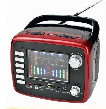 Радиоприемник Golon RX-6669 с поддержкой SD, AUX, 3.5 мм (Mini-Jack), USB Красный (11221)