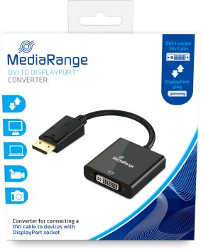 Переходник MediaRange DVI-I to DisplayPort (MRCS174)