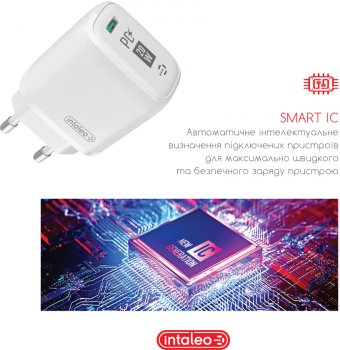 Сетевое зарядное устройство Intaleo TCGQPD120L Белый (1283126510007)