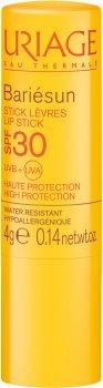 Солнцезащитный стик для губ Uriage Bariésun Stick Lèvres SPF 30 Восстановление+Увлажнение 4 г (3661434001444)