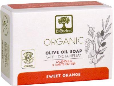 Натуральное оливковое мыло BIOselect с календулой и маслом карите 80 г (5200306433013)