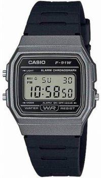 Чоловічі годинники Casio F-91WM-1BEF